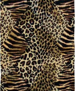Leopard with Stripes Animal Print Sarong