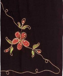 Embroidered Flower Sequin Premium Quality Sarong