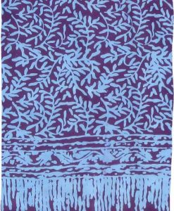 Purple and Turquoise Premium Batik Sarong