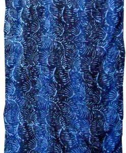 Deep Blue Fern Artisan Batik Sarong