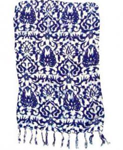 Blue & White Artisan Batik Sarong