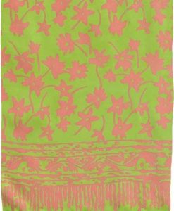 Lime and Orange Floral Premium Batik Sarong