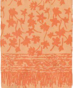 Orange Floral Premium Batik Sarong