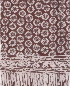 Brown Sunflower Premium Batik Sarong