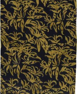 Deep Ochre on Black Premium Batik Sarong