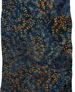 Orange, Green & Teal Floral Artisan Batik Sarong