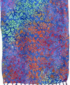 Blue Floral Artisan Batik Sarong