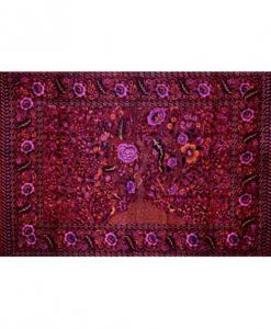 Tree of Life Tapestry Bedspread in Red