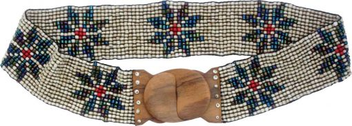 Beaded Belt with Six-Pointed Stars