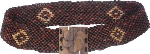 Beaded Belt with Coconut Wood Beads