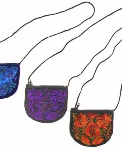 Large Velvet Shoulder Bag, 7 x 5 inches