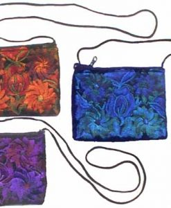 Large Rectangular Velvet Shoulder Bag, 7 x 5 inches