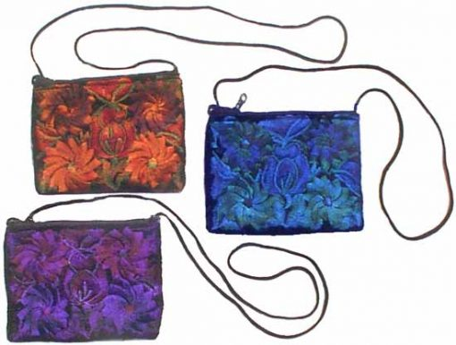 Large Rectangular Velvet Shoulder Bag, 7 x 5 inches