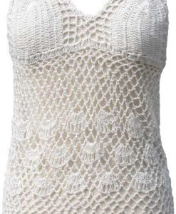 Crocheted Swimsuit Coverup in Cream