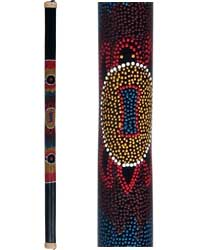 Bamboo Rainstick with Painted Aboriginal Turtle Design