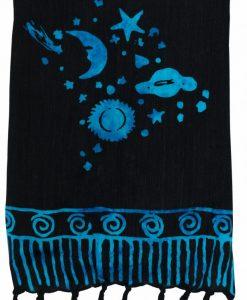 pareo celestial stars moon batik