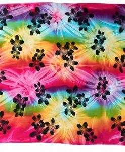 sarong tie dye flower print multicolor