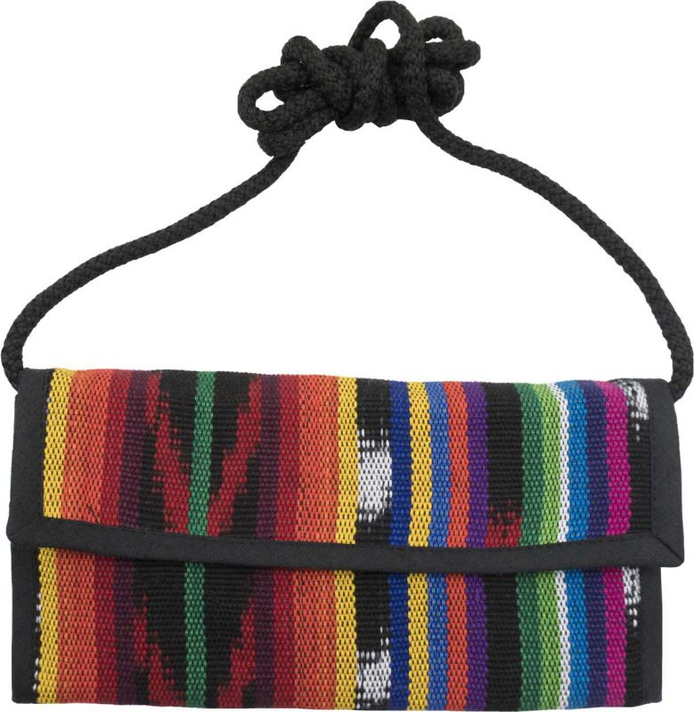Checkbook Purse with Guatemalan Jaspe Fabric