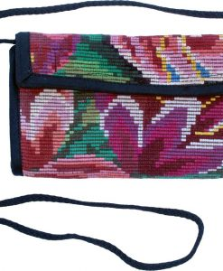 checkbook wallet guatemala flowers