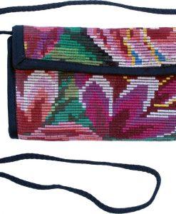 checkbook wallet guatemala flowers