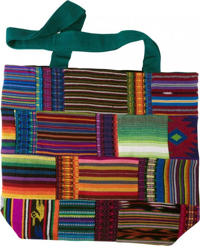 guatemalan patchwork shopping bag