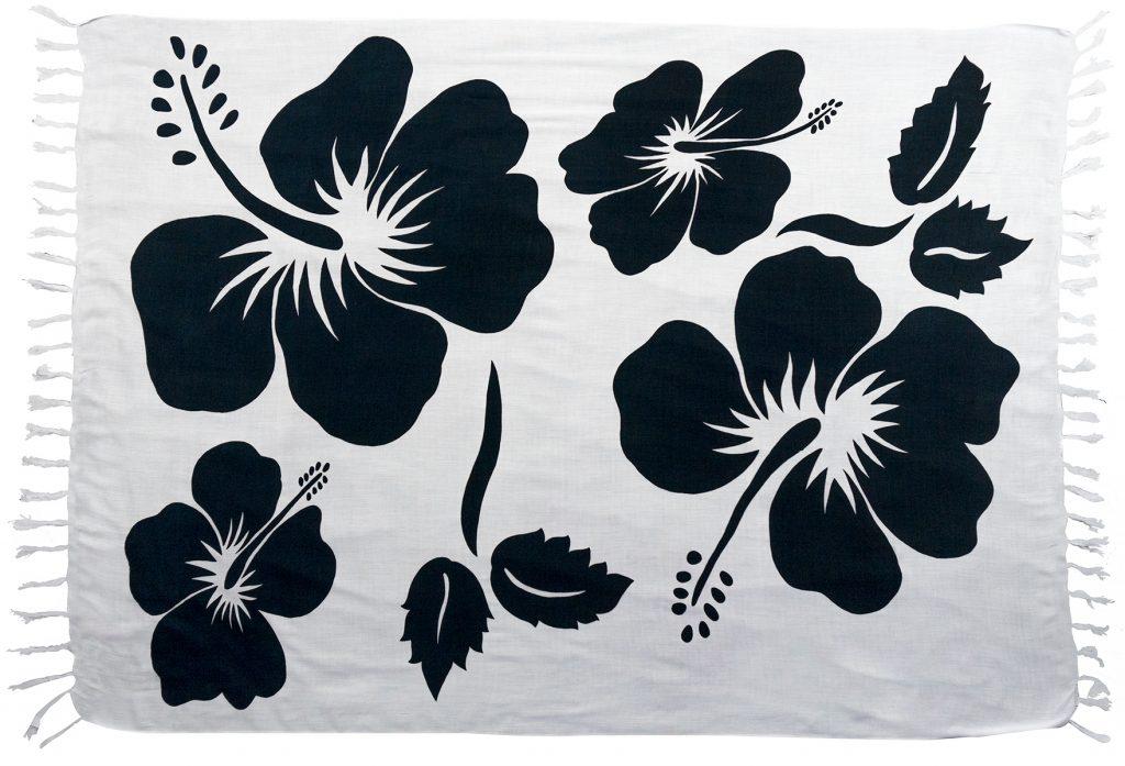 390e582041 Floral Print Sarong   Wrap Around Beach Skirt